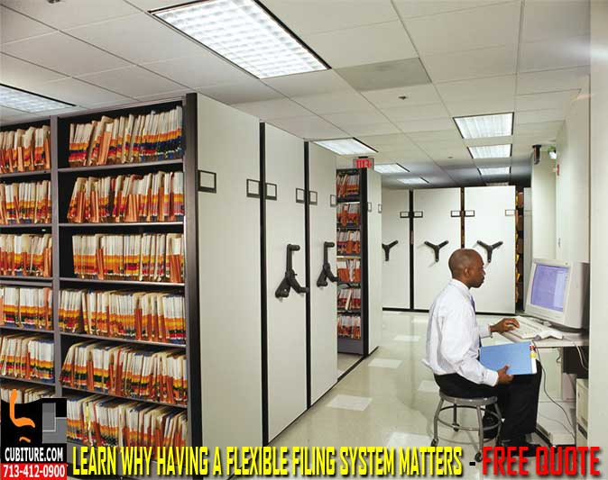 High Density File Storage Solution & Systems In Houston, Texas Sales & Installation Services Available
