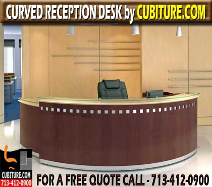 Used Curved Receptionist Desk