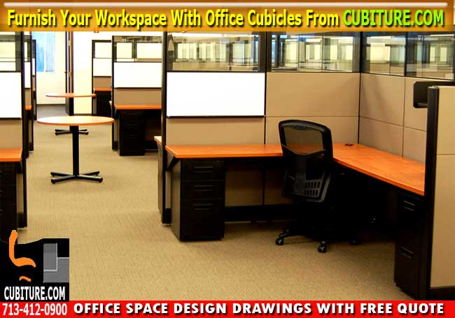 Cubicle Office Furniture For Sale In Houston Texas. Free Office Space Drawing With Free Quote