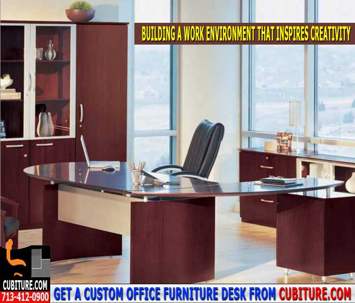 Custom Office Furniture Desk For Sale In Houston Texas