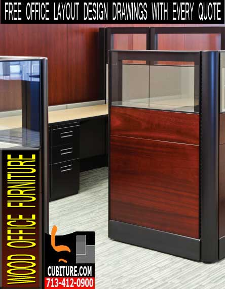 Wood Office Cubicles For Sale