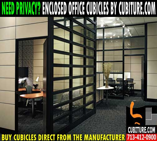 Executive Enclosed Office Cubicles With Door