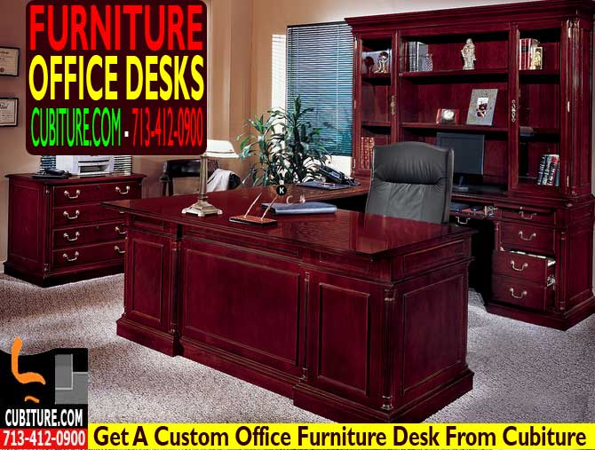 Custom Office Furniture Desk For Sale In Houston Texas & Katy TX