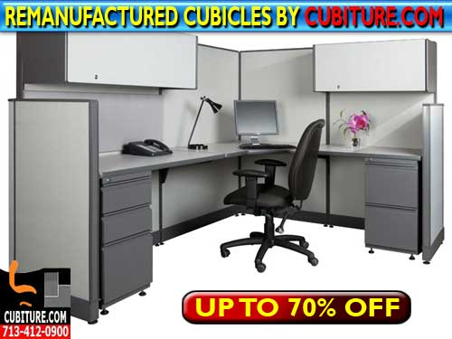 Re-Manufactured Office Cubicles For Sale In Houston, Texas