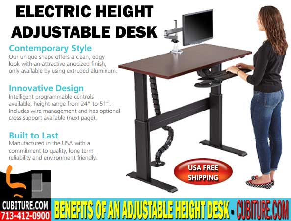 Ergonomic Adjustable Height Desks For Sale In Houston, Texas