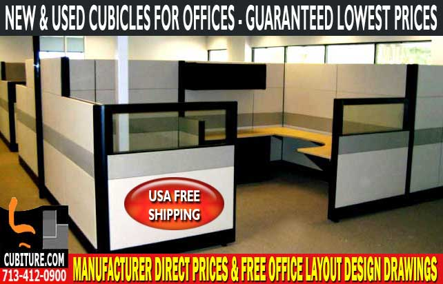 Refurbished Cubicles For Offices For Sale In Houston, Texas