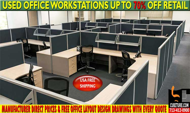 Refurbished Office Workstations For Sale In Midtown Houston & West University