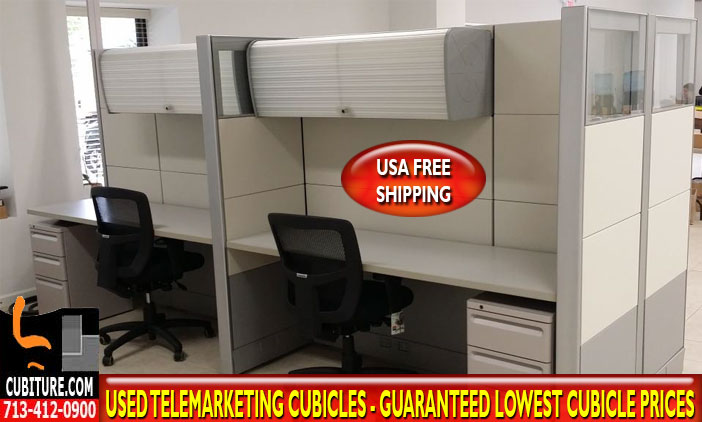 Re-Manufactured Telemarketing Cubicles