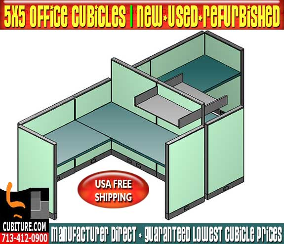 Refurbished 5x5 Office Cubicles
