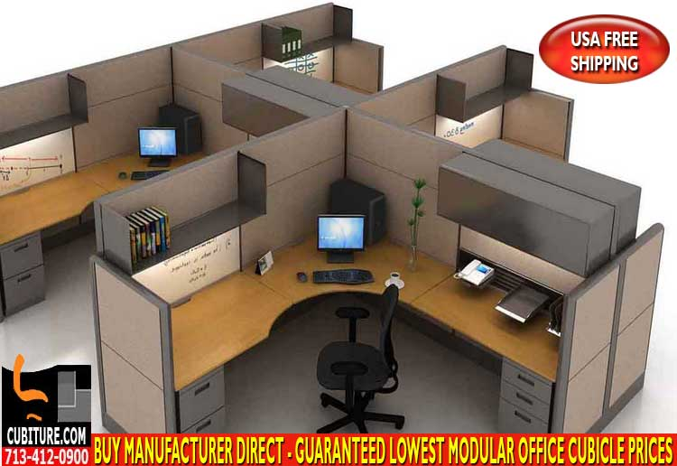 Refurbished Modular Office Cubicles For Sale In Houston, Texas