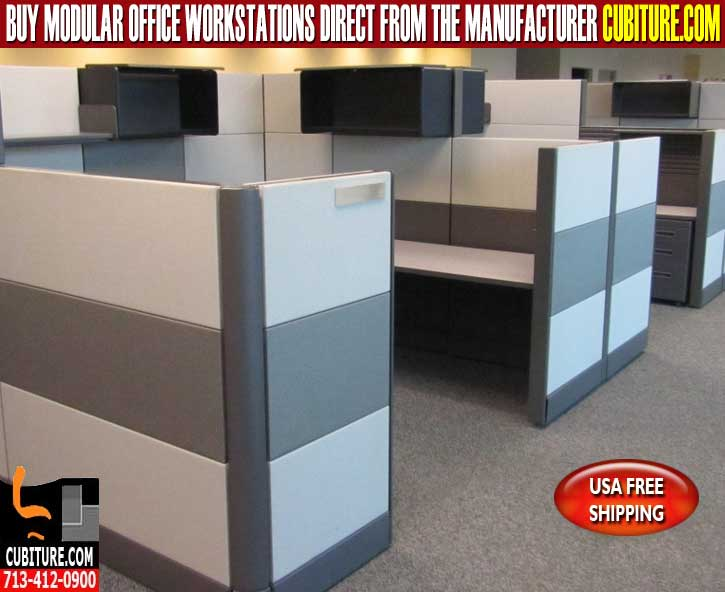 Used Modular Workstation For Sale In Houston, Texas