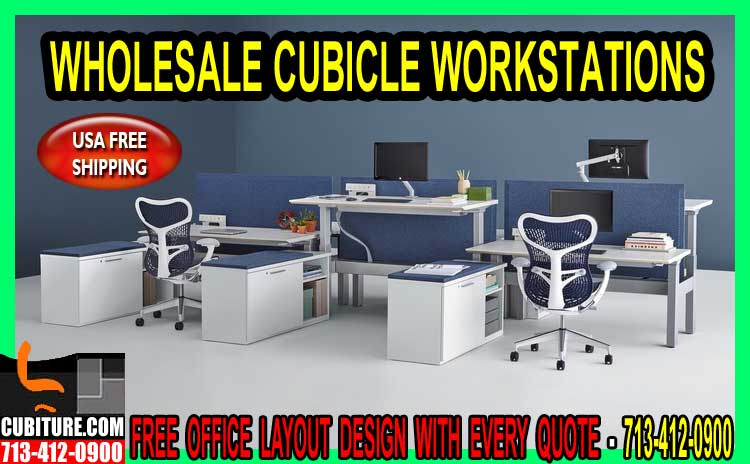 Wholesale Cubicle Workstations Discount Sales, Installation & Office Workstation Furniture Repair