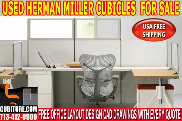 Re-Manufactured Herman Miller Cubicles For Sale In Clear Lake Texas