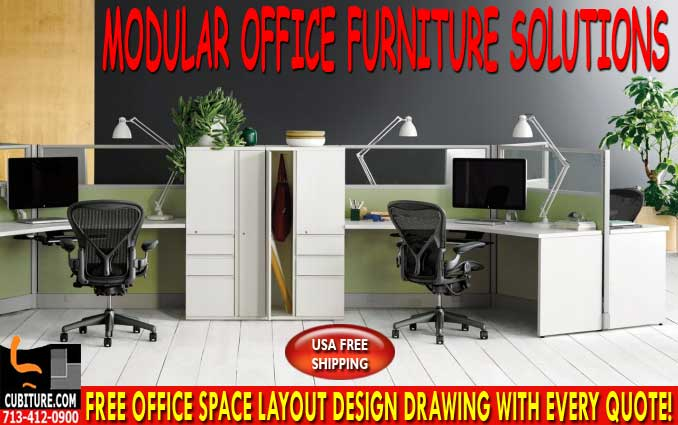 Refurbished Modular Office Furniture For Sale In Dickinson Texas
