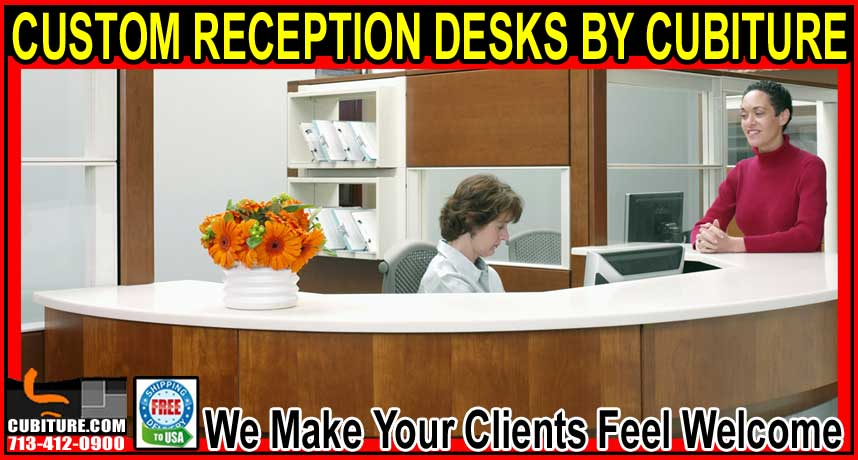 Cuctom Reception Desks For Sale In Houston, Galveston, The Woodland,s & Katy Texas
