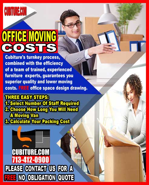 Office Moving Costs For Sale In Galveston, Katy, Woodlands, Lake Jackson & Jersey Village, Texas