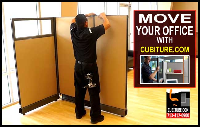 Cubicle Moving Services In Houston, Baytown, Pasadena, The Woodlands, Katy, Conroe, & Cypress Texas