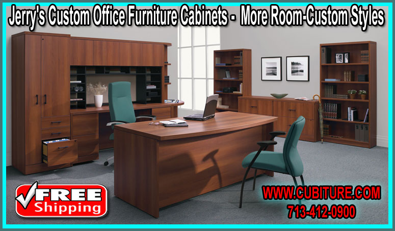 Custom Built Office Furniture Cabinets For Sale