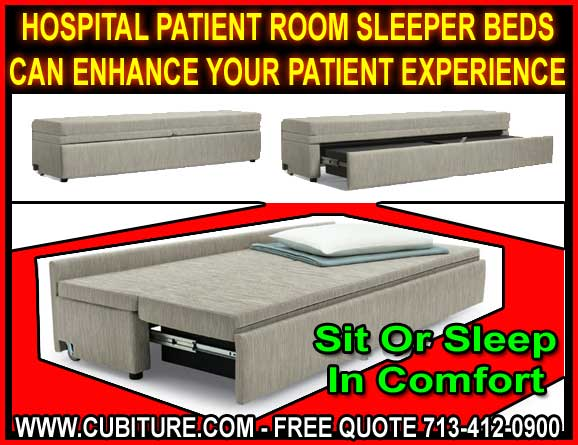 Healthcare And Hospital Patient Room Sleeper Bed Benches For Sale Manufacturer Direct Pricing