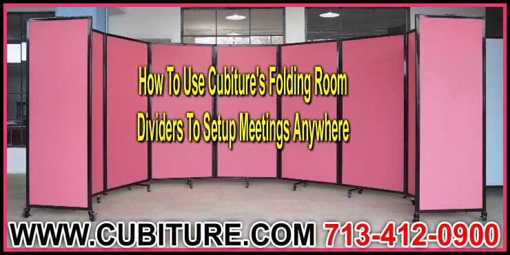 How To Use Cubiture's Folding Room Dividers To Setup Meetings Anywhere Setup Video