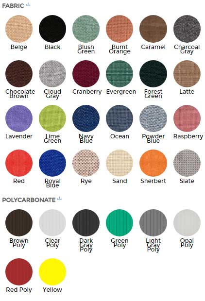 Room Divider Color Chart