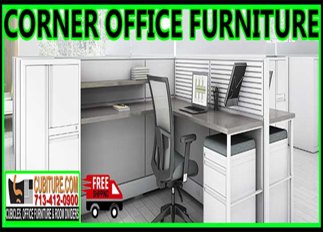 L Shaped Desk Corner Office Furniture Used