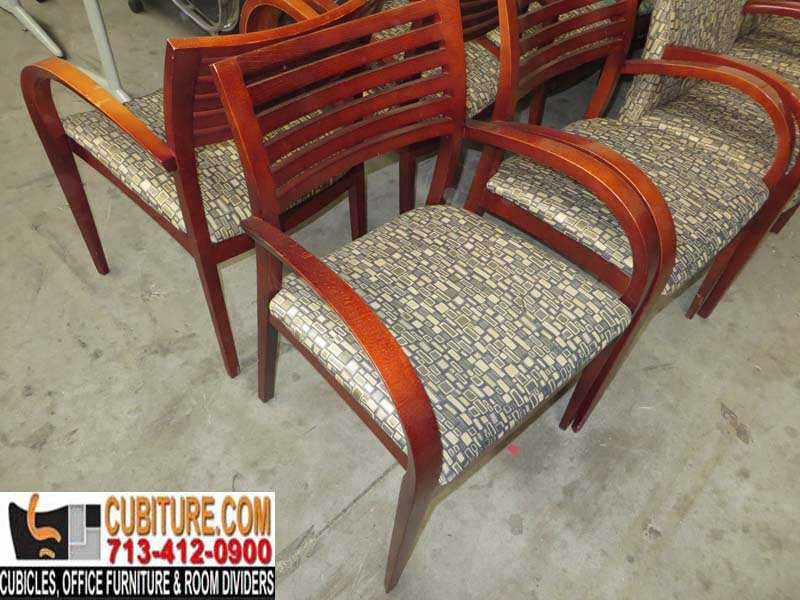 Second-Hand Quality Wood Contemporary Guest Chair For Sale In Top Shape In Houston Texas Call Today!