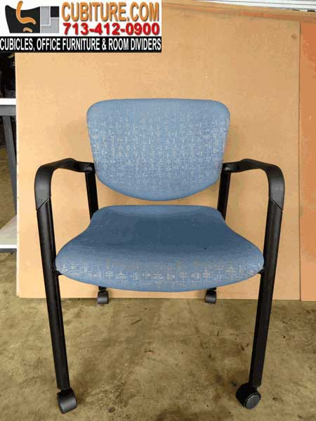 Second-Hand Office Reception Chairs with Wheels Easily Maneuvered