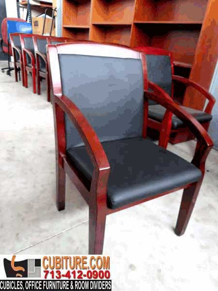 Slightly Used Quality Real Wood Office Chair Available In Houston Texas