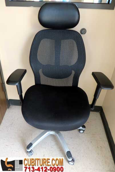 Used Ergonomic Mesh Executive chair with headrest in excellent condition available in houston woodlands sugarland katy