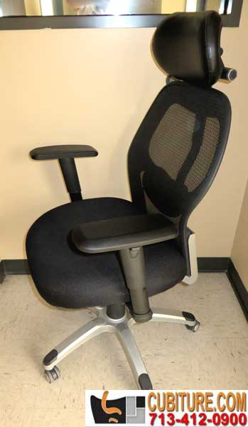 Quality Used Ergonomic Mesh Executive chair with headrest available in Houston Woodlands Katy Sugarland Beaumont