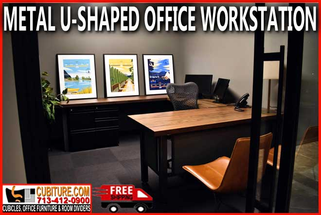 Metal U Shaped Office Workstation For Sale Factory Direct With FREE Shipping