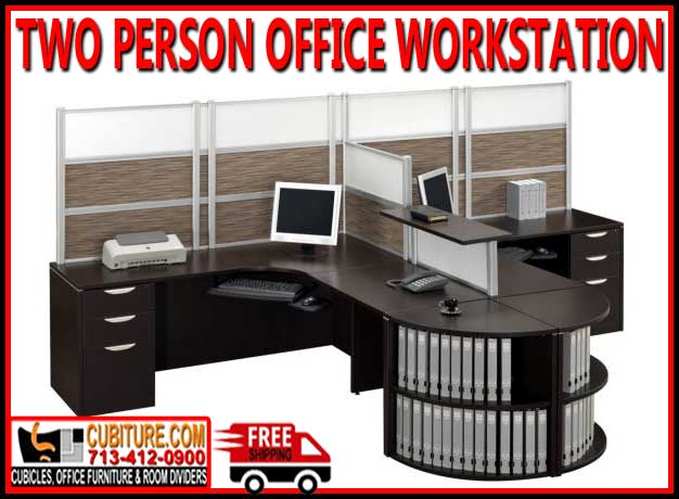 Discount Two Person Office Workstations For Sale Manufacturer Direct Guarantees Lowest Price With FREE Shipping - Made In USA