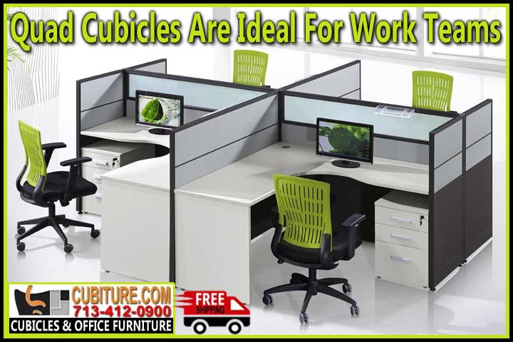 Discount Quad Cubicles For-Sale Factory Direct Means Lowest Price With FREE Shipping
