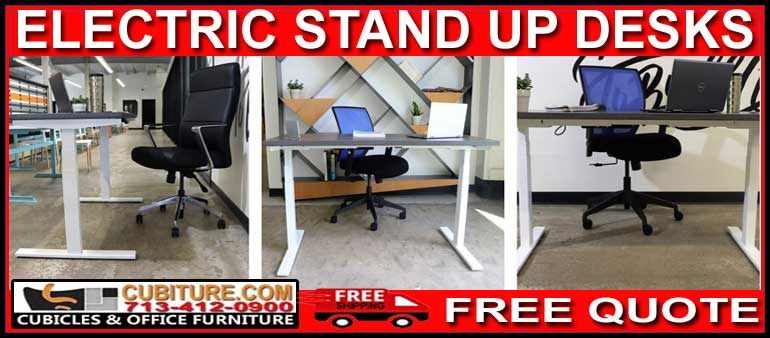 Discount Electric Stand Up Desk For Sale Factory Direct Pricing With FREE Shipping