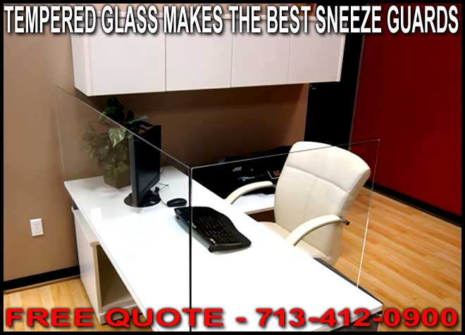Discount Commercial Tempered Glass Sneeze Guards For Sale Manufacturer Direct Guarantees Lowest Price With Free Shipping To Houston, Dallas San Antonio, Corpus Christi Galveston, The Woodlands, and Katy Texas