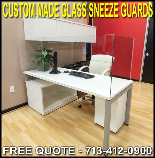 Discount Custom Tempered Glass Cough Sneeze Guards