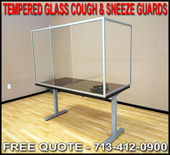 Discount Tempered Glass Cough And Sneeze Guards For Sale Factory Direct Houston, Dallas, Austin & Galveston Texas