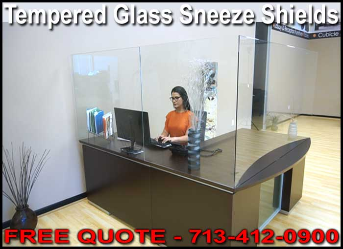Commercial Tempered Glass Sneeze Shields For Sale Factory Direct With FREE Shipping!
