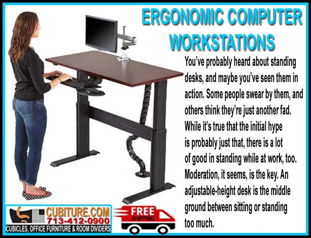 Discount Ergonomic Computer Workstations For Sale With FREE Shipping