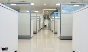 Office Design with Room Dividers and Cubicle Walls